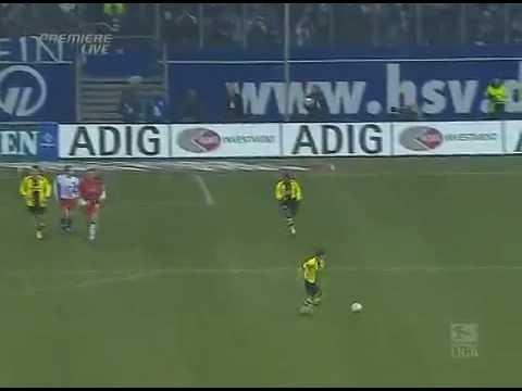 Rosicky erzielt alleine vor dem Tor das 4:2: Hamburger SV - Borussia Dortmund 05/06