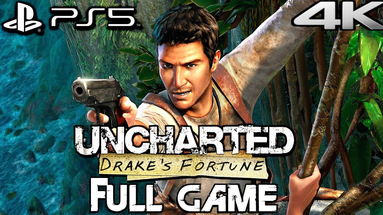 UNCHARTED 1 PS5 REMASTERED Gameplay Walkthrough FULL GAME (4K 60FPS)