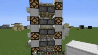 [Механизмы в Minecraft] 1 Серия   Реалистичный Лифт.(Здравствуйте друзья. В этом видео будет показана как сделать реалистичный лифт с закрывающимися дверями!, 2013-09-07T12:35:45.000Z)