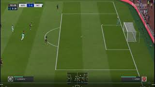 Lukaku missed penalty and Good goal by Lautaro - Arsenal 1-4 Inter FIFA 20