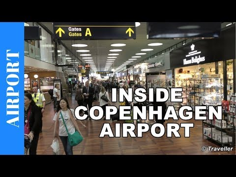 Inside Copenhagen Airport - CPH International departures ter