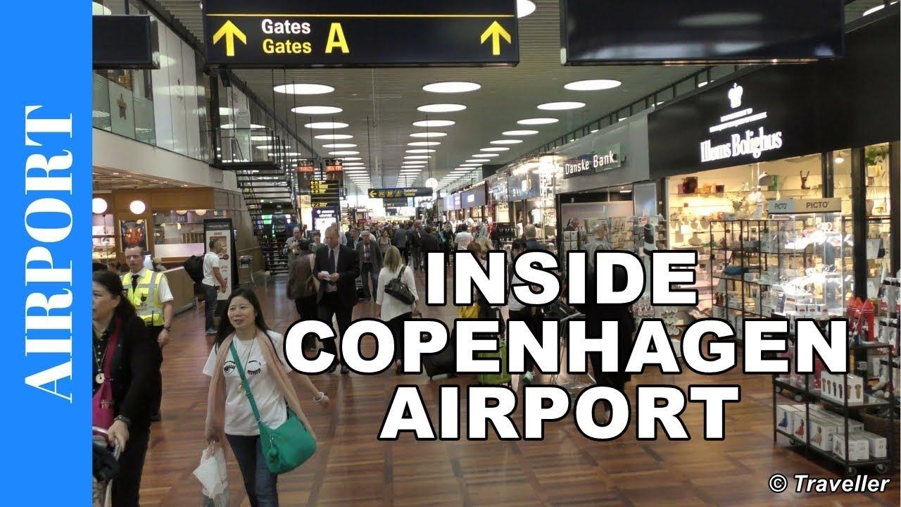 Inside Copenhagen Airport - CPH International departures ...