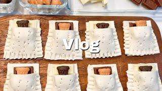 VLOG/くまチョコパイ,離乳食作り置き,納豆キムチチャーハン,無印良品,子供の日