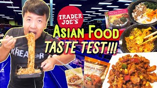 BEST & WORST Trader Joe's CHINESE FOOD Taste Test! Thai Noodles, Korean Pancake