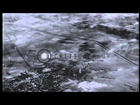 US Navy TBF Avenger bombers bomb Japanese Eiko airstrip, Taiwan during World War ...HD Stock Footage