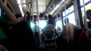 fat black lady refuses to move her stroller for cripple on CTA bus