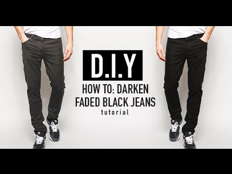 HOW TO: RE-DYE FADED BLACK JEANS (D.I.Y TUTORIAL) | JAIRWOO - YouTube