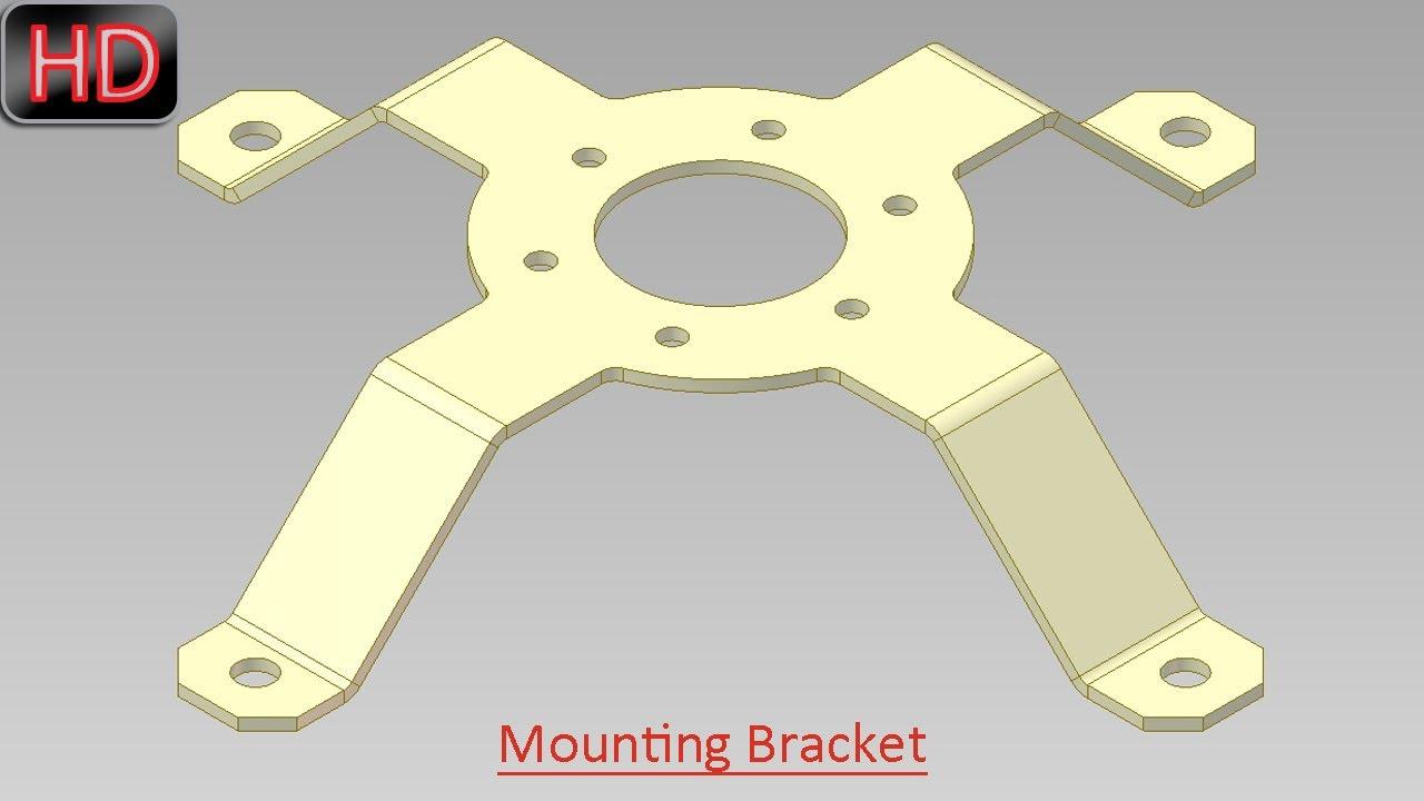 Mounting Bracket Sheet Metal Video Tutorial Autodesk
