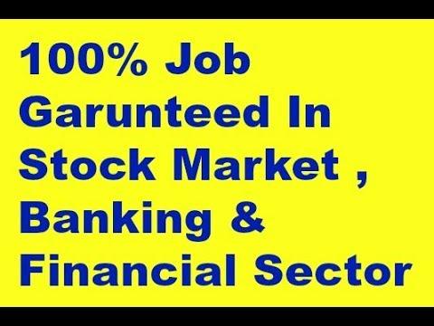 100% Job Garunteed In Stock Market , Banking & Financial Sector
