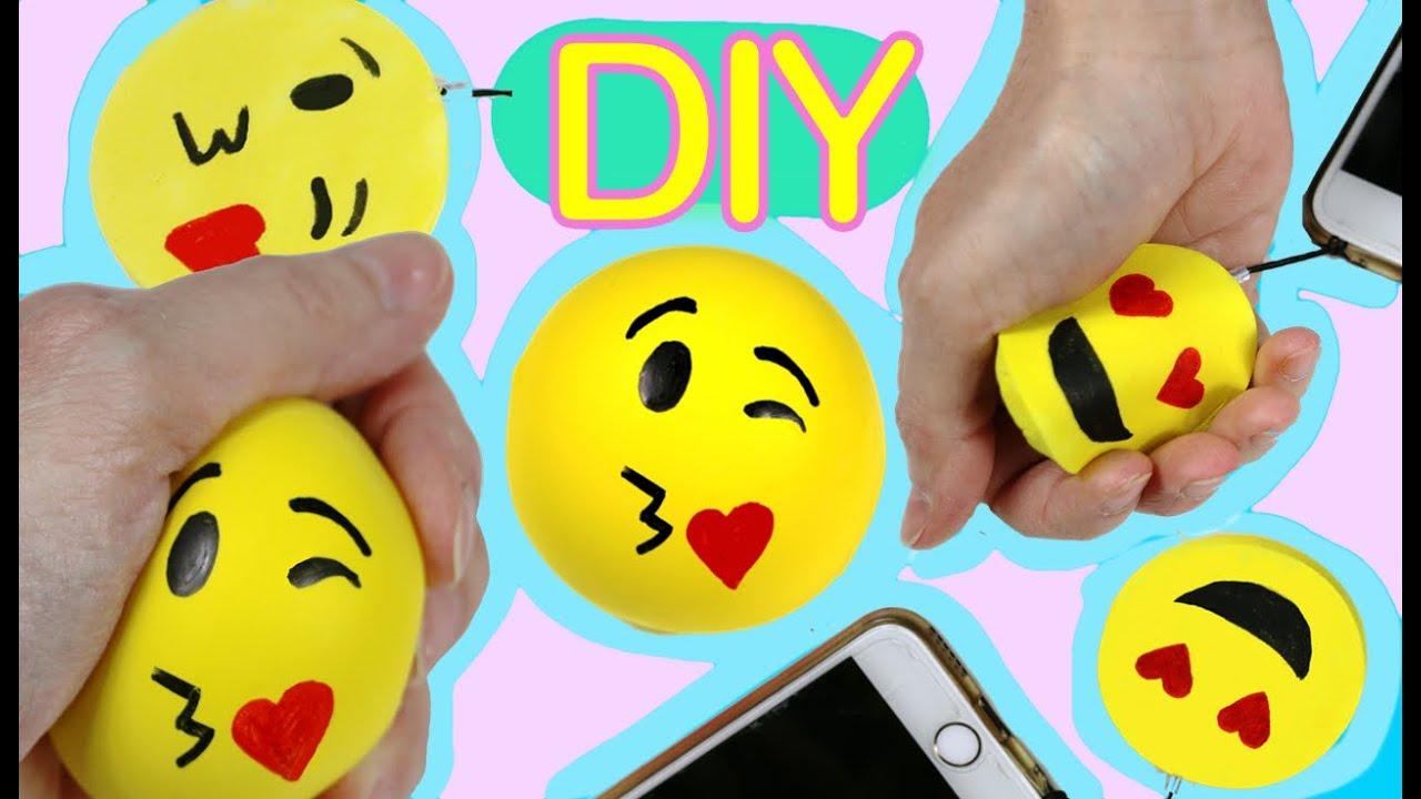 Foam ball craft - Squishy Foam And Stress Ball Emoji With A Balloon Easy Diy Crafts Youtube
