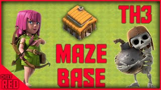 "Clash of Clans - Th3 War Base ""The Mighty Maze"""