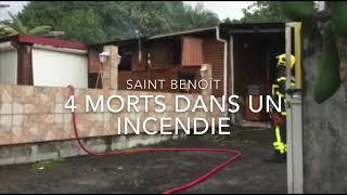 Après l'incendie à Saint Benoit, les pompiers sécurisent les lieux