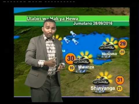 Tanzania Weather Forecast 27/09/2016