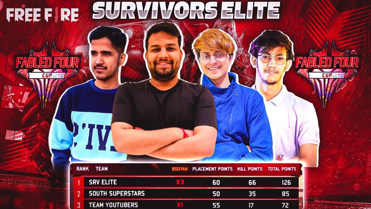 TEAM SRV ELITE Table Topper in All YouTubers @Desi Gamers @Pahadi Gamer @JONTY GAMING  #FreeFire