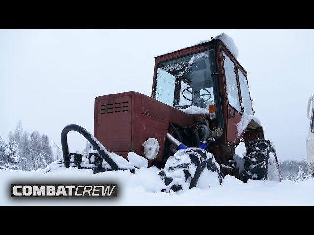 Турбо-трактор против внедорожников в глубоком снегу! (Часть 9)