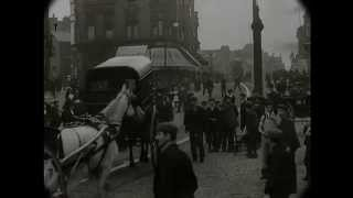 1902 Time Machine - Street Scene in England (Speed Corrected w/ Sound)