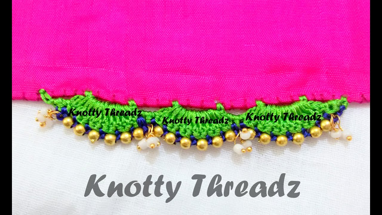 How to make saree tassels with beads using silk thread for What do we use silk for