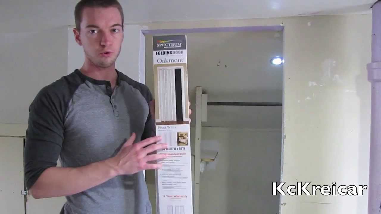 How to Install a folding/accordion closet door - YouTube