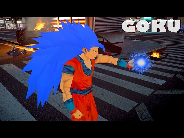 GTA MODs Goku Super Saiyan BLUE [Dragon Ball Super] MOD