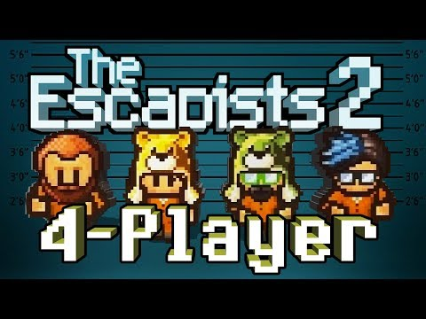 The Escapists 2: 4-Player - #1 - Shake 'Em Down! (4-Player Gameplay)