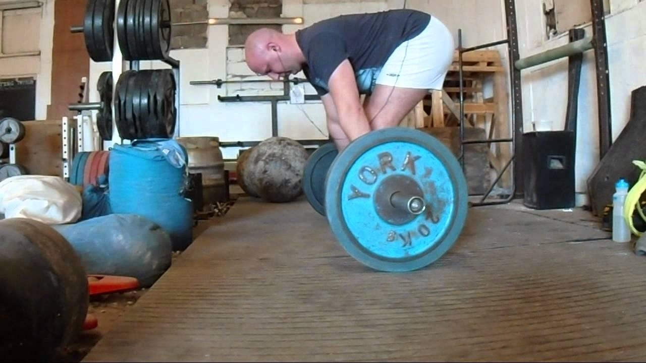 100kg x5 Pendlay rows - YouTube