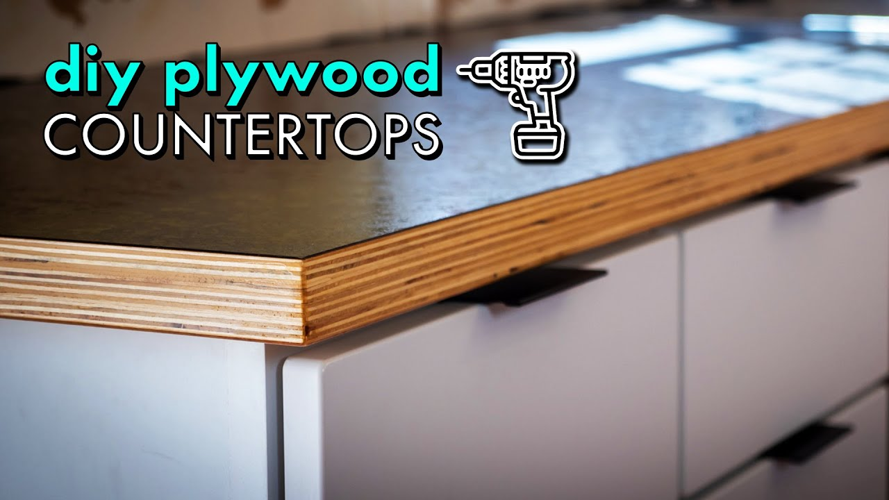 Building Diy Wood Countertops From Plywood Laminate For 300 Kitchen Remodel Pt 2 Youtube