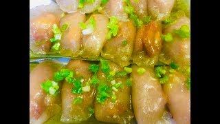 Bánh bột lọc nhân tôm thịt (Vietnamese pork-shrimp tapioca dumpling) - - Bếp Nhà Nội