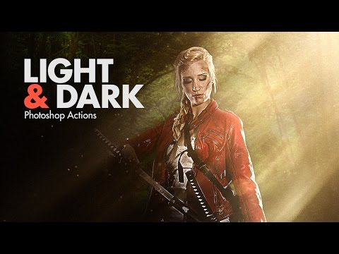 LIGHT & DARK Photoshop Actions - HOW TO USE