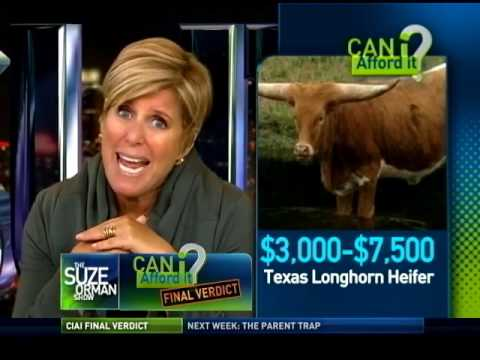 Suze's Final Verdict On The Texas Long Horn Heifer - Can I afford it? |  Suze Orman