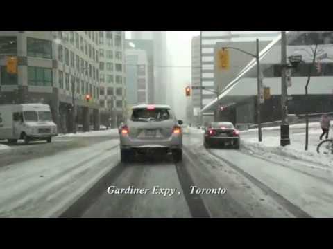 Downtown Toronto. Canada. March 4,  2018 (music)