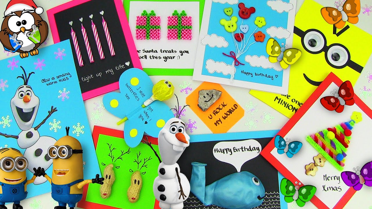 10 easy diy card ideas diy cards with christmas gifts birthday valentines day youtube
