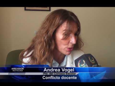 Andrea Vogel Conflicto docente