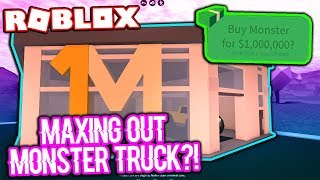 MAXING OUT THE MOST EXPENSIVE CAR IN ROBLOX JAILBREAK!!! (Monster Truck)