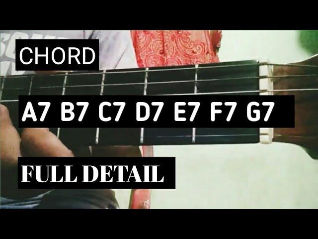 Kunci Gitar A7 B7 C7 D7 E7 F7 G7 Tutorial Chords Chordify