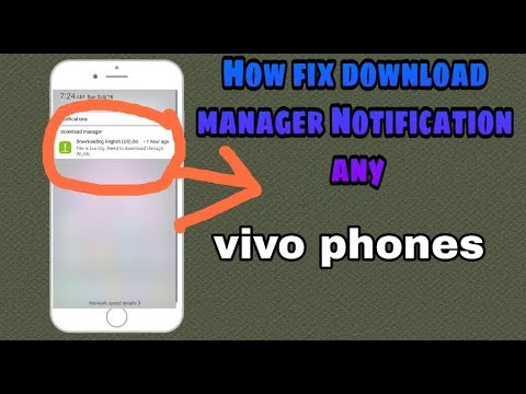 How Remove Download Manager From Status Bar Any Vivo Phones