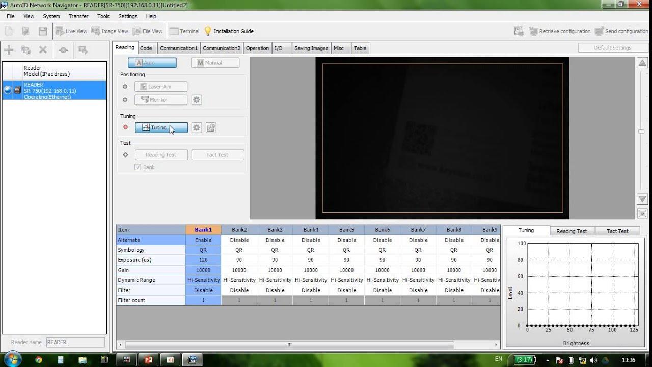 Keyence Barcode Reader SR-750 Configuration #1