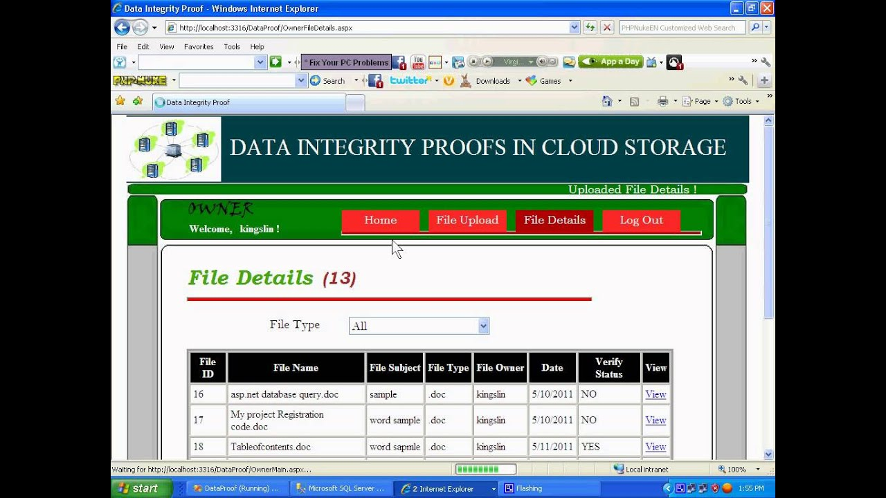 data storage integrity