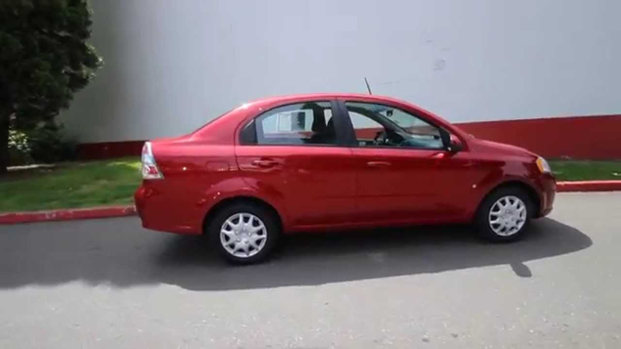 2009 Chevrolet Aveo  Sport Red  9B344399  Seattle  Bellevue