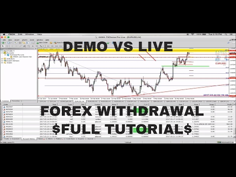 FOREX TRADING! FULL FOREX WITHDRAWAL TUTORIAL! DEMO VS LIVE