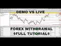 FOREX TRADING! FULL FOREX WITHDRAWAL TUTORIAL! DEMO VS LIVE SUPERIOR4X!