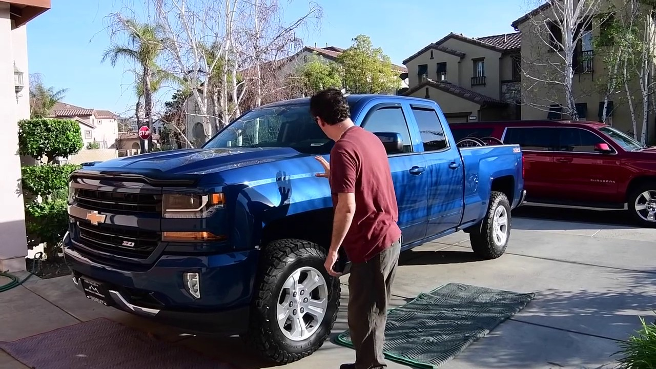 2017 Silverado Z71 Leveling kit - YouTube