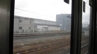 JR西日本223系 新快速 京都方面(車内より)