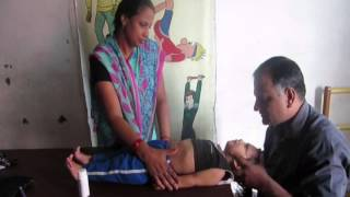 Exercise to improve neck holding & trunk control in cerebral palsy affected children