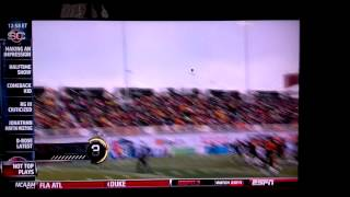 Windblown field goal attempt in Canadian Football