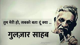 सबको बता दूं क्या.. 📖 Diary Poetry ✏️  Gulzar Love Shayari | New Whatsapp Status | Emotional Video