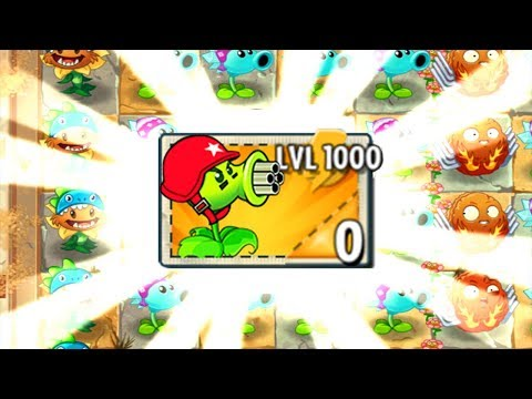 Plants vs Zombies Mod Xmas - Gatling Pea Xmas LEVEL 1000 vs Zombies Fight!