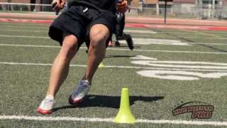Wide Receiver Drills- Quick Feet Explosion Drill (Circle the Cones Drill)  - Wide Receiver Pro DVD