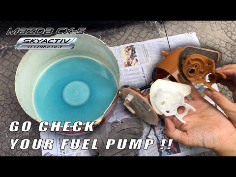 Mazda CX 5 CX 3 How to replace Fuel filter strainer & Oil Catch can update. Mazda 3 Mazda 6 Mazda 2