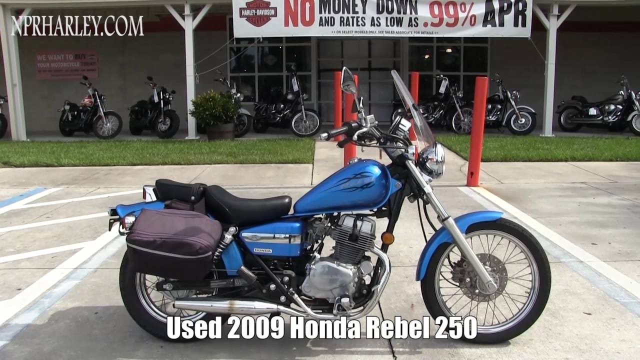 used honda rebel 250 motorcycles for sale in tampa florida - youtube