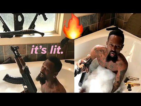 Gangster In Bathtub KILLS Bodak Yellow Challenge! 🔥